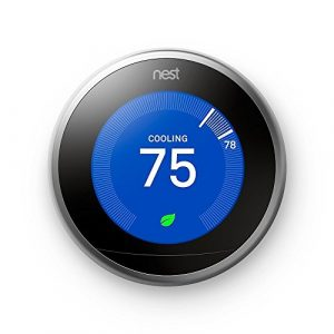 Nest Learning Thermostat, Easy Temperature Control for Every Room in Your House, Stainless Steel (Third Generation) Reviews