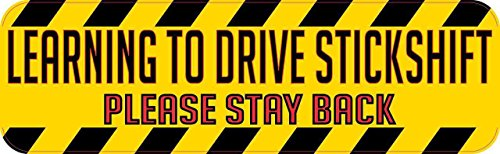 10in x 3in Learning to Drive a Stick Shift Magnet Vinyl Car Sign Magnets by StickerTalk