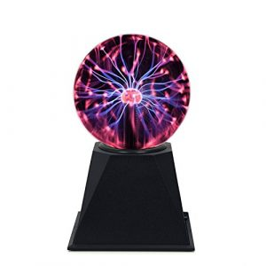 Plasma Ball Light 4″ inch Interactive Touch Responsive Lamp Tesla Coil Lightning Effect Science Educational Fun Gift (4 Inch) Reviews