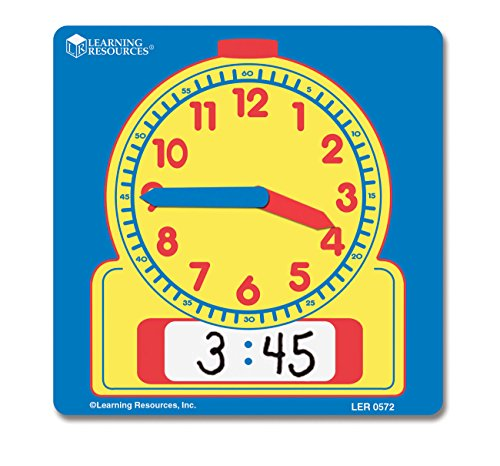 Learning Resources Write and Wipe Student Clocks, Set of 10