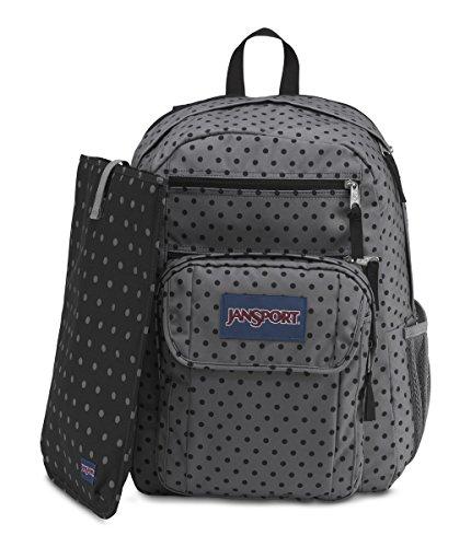 JanSport Digital Student Laptop Backpack (Black Dot-O-Rama)