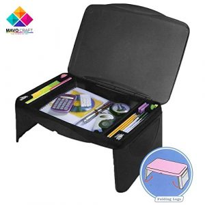 Folding Black Lap Desk, laptop stand, Workstation, Laptop lap desk, kids desk, college student desk – The lapdesk Contains Extra Storage space with dividers under the top cover, And folds very easy