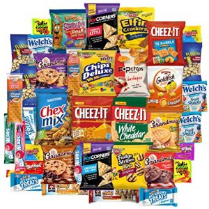 Snack Chest Care Package (40 Count) Variety Snacks Gift Box – College Students, Military, Work or Home – Over 3 Pounds of Chips Cookies & Candy!