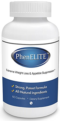 PhenELITE - HIGHEST Rated Pharmaceutical Grade Weight Loss Diet Pills - Fast Weight Loss, Hyper-Metabolising Fat Burner and Appetite Suppressor - AIDS IN WEIGHTLOSS!