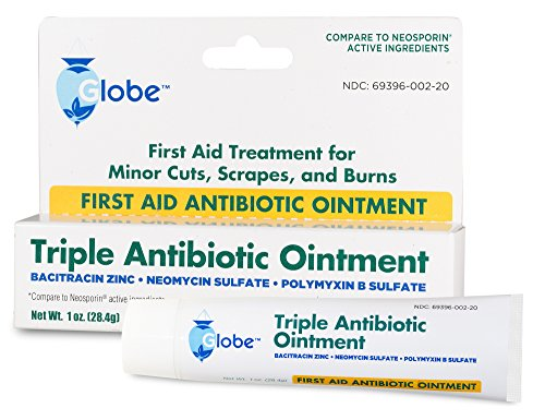 Triple Antibiotic First Aid Ointment, 1 Oz. (Compare to Neosporin Active Ingredients) (1 Tube)