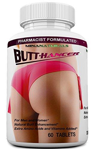 BUTTHANCER Natural Butt Enlargement & Butt Enhancement Pills. Glutes Growth and Bigger Booty Enhancer Pills. 60 Tablets
