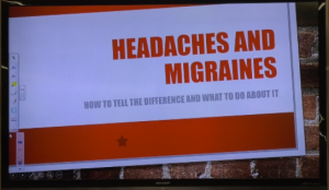 Healthy living lecture: Headache vs. migraine – webcenter11