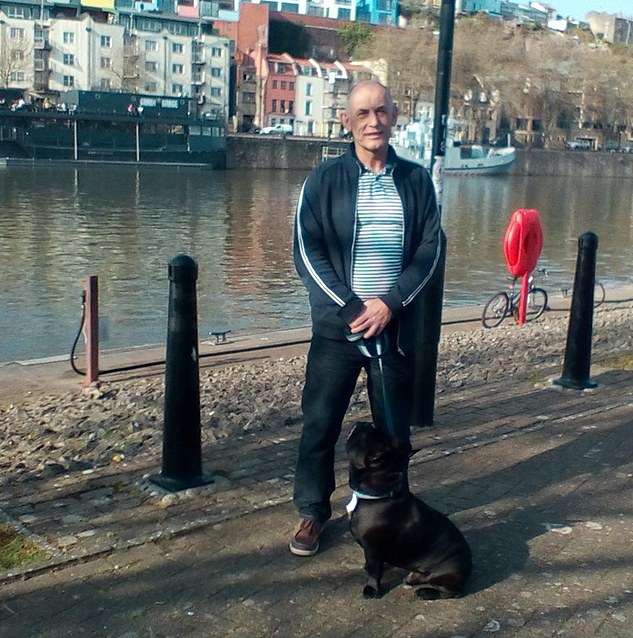 "Mr Davey, pictured in his hometown of Bristol, said: 'One of the nurses said to me, ""You don't realise how lucky you are, my friend."" That really stuck in my head, especially when I found out how bad the statistics were for pancreatic cancer'"
