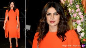 Priyanka Chopra Makes a Stunning Appearance in a Bright Orange Dress at a Mumbai Event and We Simply Love It- See Pics!