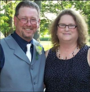 Rhonda Engle, pictured with her ex-husband, said she attributes her health issues to contaminated drinking water.