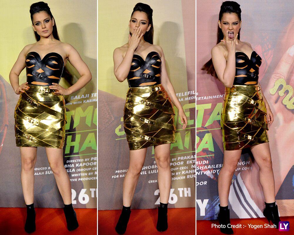 Kangana Ranaut at Judgemental Hai Kya trailer launch.