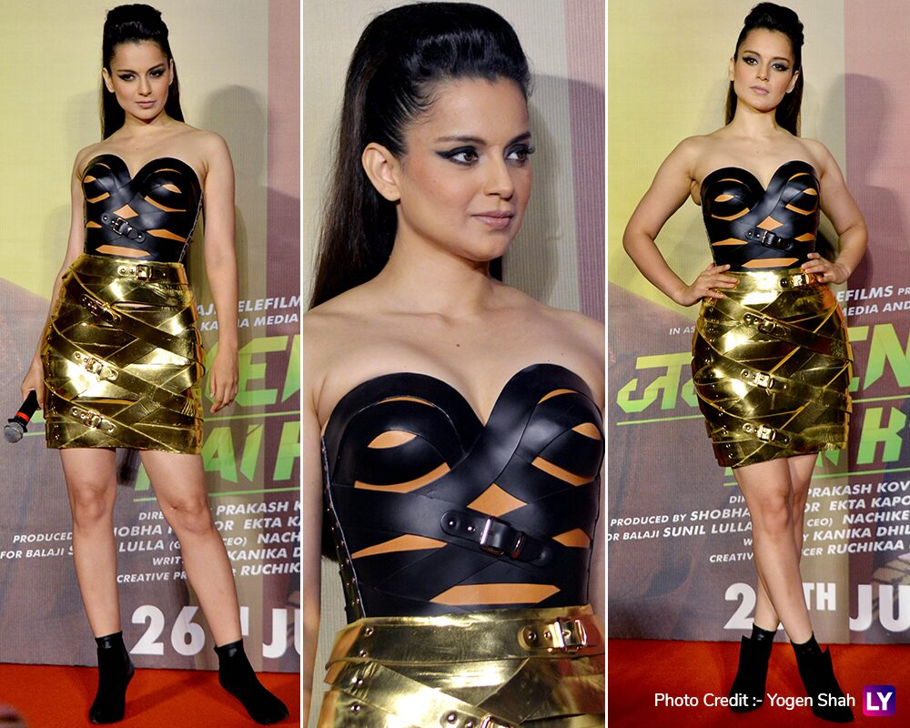 Kangana Ranaut at Judgemental Hai Kya trailer launch.