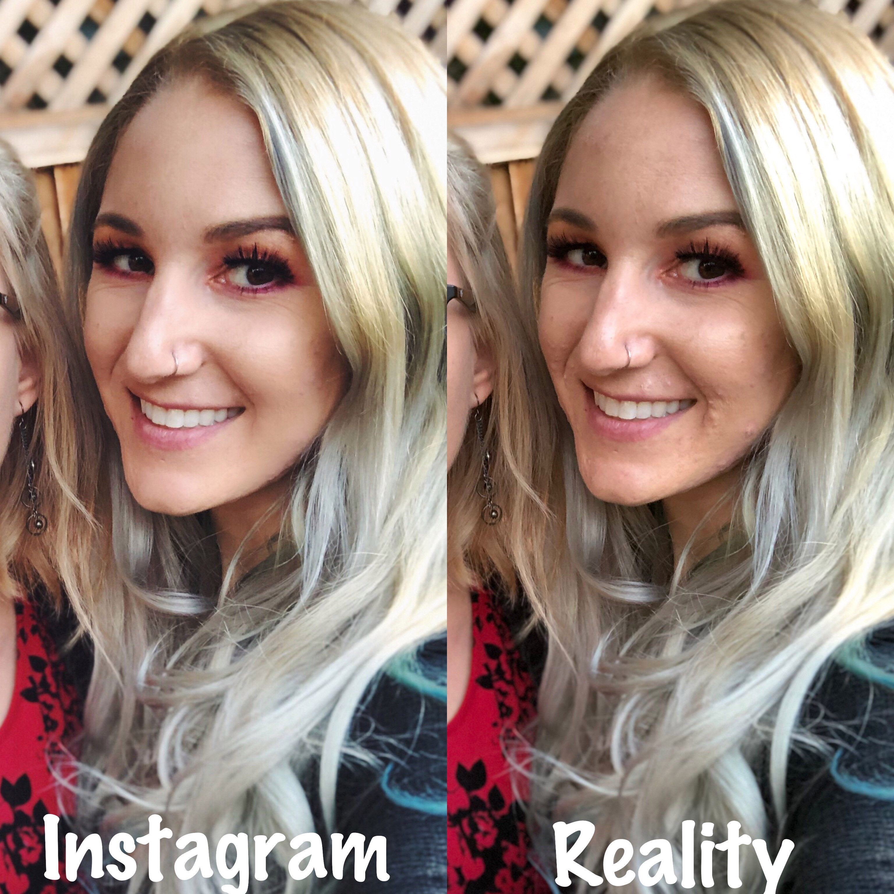 The 30-year-old says she feels like a'catfish' when using editing apps