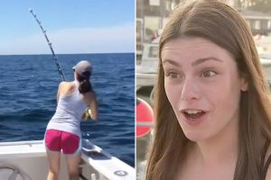 Teen girl and dad reel in 700-pound tuna after 10 hours