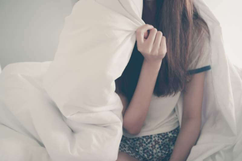 women cover blanket