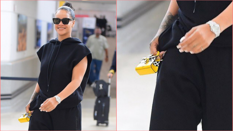 Rihanna Carries the Tiniest Bag Ever As She Lands at JFK Airport for Savage X Fenty Show for New York Fashion Week