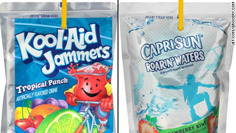 These two drinks have 0% juice but are marketed to kids on children's TV programming, the report said.