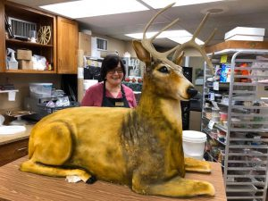 Bride and groom request life-sized deer wedding cake