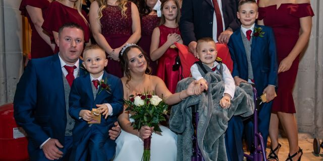 The couple said their whole community came together to make the special day happen.