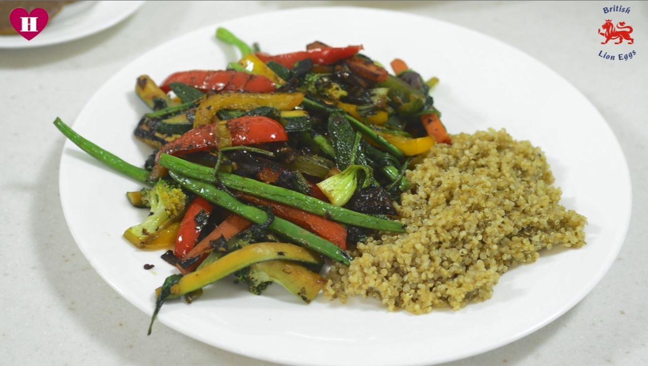 stir fry with quinoa