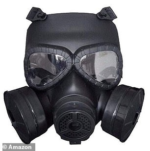 This rubber-sealed, military-looking mask is for sale for £29.87 on Amazon