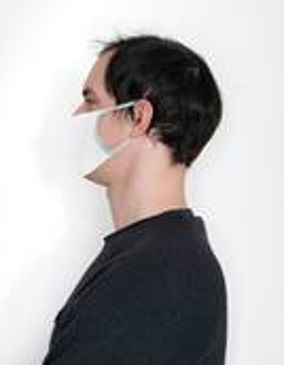 A side view of a correctly worn mask