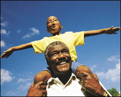 Photo: Grandfather and grandson